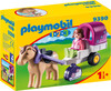 Playmobil Playmobil 9390 1.2.3 Carriole avec cheval 4008789093905