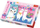 Trefl Casse-tête 100 lamas joyeux 5900511163636