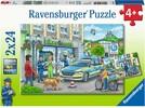 Ravensburger Casse-tête 24x2 En route avec le chef de la police 4005556050314