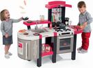 Smoby Cuisinière électronique super chef de luxe, évier, réfrigérateur, batterie de cuisine, service de vaisselle, aliments 3032163113041