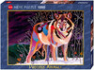 Heye Casse-tête 1000 Night Wolf, Precious Animals 4001689299392