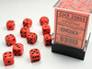 Chessex Dés 36d6 12mm opaques orange avec points noirs 601982021955