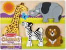 Melissa & Doug Casse-tête grosses pièces safari en bois Melissa & Doug 1892 000772118927