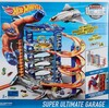 Hot Wheels Hot Wheels Garage Ultime avec 4 voitures et avion à réaction 887961575590