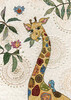 Bug Art Carte fête Girafe sans texte 5033678610320