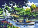 Royal & Langnickel Peinture à numéro balade sur la rivière 39x28.5cm 090672994578