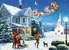 Royal & Langnickel Peinture à numéro arrivée du père Noël 39x28.5cm 090672070630