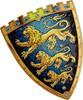 Liontouch Costume chevalier triple lions bouclier du roi en mousse EVA Liontouch 29101 5707307291012
