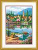 """Dimensions PaintWorks Peinture à numéro Après-midi au lac du village 14x20"""" 91661 088677916619"""