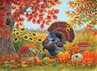 SunsOut Casse-tête 1000 Jardin de récolte et dindon (Harvest Garden) SunsOut 69656 796780696563