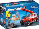 Playmobil Playmobil 9465 Pompier avec véhicule et bras téléscopique 4008789094650