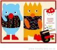 Djeco Cartes à gratter / Gratte les petits monstres 3070900090903