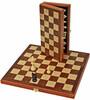 Wood Expressions Jeu d'échecs 11 po en bois de noyer pliant 658956101113
