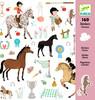 Djeco Autocollants chevaux (fr/en) 3070900088818