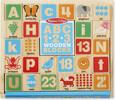 Melissa & Doug Blocs alphabet et chiffres en bois en anglais (cubes lettres) Melissa & Doug 2253 000772022538