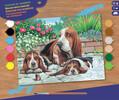 Sequin Peinture à numéro Peinture à numéro senior chiens Bassets au repos 5013634000440