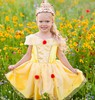 Creative Education Costume robe Belle l'heure du thé jaune, grandeur 5-6 (robe seulement) 771877392054