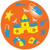 "Fabricas Selectas Ballon orange château de sable 8"" non gonflé (Inflate-a-ball) (unité) (varié) 754316013383"