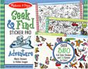 Melissa & Doug Bloc d'autocollants et scènes à colorier aventure cherche et trouve (Seek & Find) Melissa & Doug 30151 000772301510