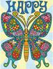 """Dimensions PaintWorks Dessin à numéros papillon à motifs 9x12"""" 91496 088677914967"""