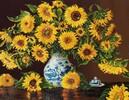 Diamond Dotz Broderie diamant Tournesols dans un vase de chine (Sunflowers in a China Vase) Diamond Dotz (Diamond Painting, peinture diamant) 4897073241111
