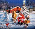 SunsOut Casse-tête 1000 Le Père Noël s'arrête à la ferme (A Stop at the Farm) SunsOut 37992 796780379923