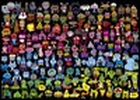 Heye Casse-tête 1000 Burgerman - Monstres de toutes les couleurs (Doodle Rainbow) 4001689297862