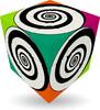 Verdes Innovations V-CUBE 3, 3x3 plat, spirales (Funky Spirals) 5206457000456