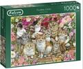 Falcon de luxe Casse-tête 1000 Floral Cats 8710126112465