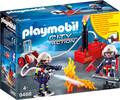 Playmobil Playmobil 9468 Pompiers avec matériel d'incendie 4008789094681