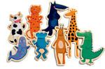 Djeco Animaux farfelus magnétiques en bois (fr/en) 3070900031111