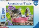 Ravensburger Casse-tête 100 XXL Chaton endormi 4005556105397