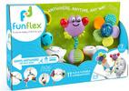 Fun Flex Fun Flex crabe et fleur sons et textures à accrocher, 7 pièces (Multi Flex) 851310006011