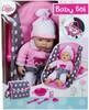 """Lissi Poupée bébé 15"""" avec siège d'auto, sac et accessoires 4006943604165"""