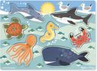 Melissa & Doug Casse-tête boutons créatures de la mer en bois Melissa & Doug 9055 000772090551