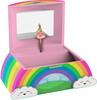 Schylling Boîte à bijoux musicale arc-en-ciel, le Lac des cygnes 019649233366