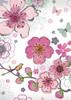 Kiub Carte fête Sparkle fleurs sans texte 3700572717302