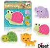 Diset Casse-tête 2x4 bébé forme animaux, escargot (fr) 8410446699515