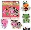 Diset Casse-tête 2x4 bébé forme animaux, vache (fr) 8410446699522