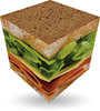 Verdes Innovations V-CUBE 3, 3x3 plat, sandwich 5206457000517