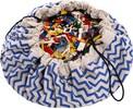 Play & Go Sac à jouets motif zig zag bleu 5901121400111