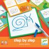 Djeco Eduludo dessin step by step animaux (fr/en) apprendre à dessiner étape par étape 3070900083196