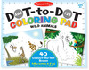 Melissa & Doug Bloc à colorier à numéros point à point animaux sauvages Melissa & Doug 9104 000772091046