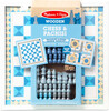 Melissa & Doug Jeu d'échecs et parcheesi (pachisi) en bois bleu Melissa & Doug 30390 000772303903