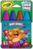 Crayola 4 craies de trottoir lavables Very Berry 063652365002