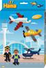 Hama Hama Midi Boîte aéroport 2000 perles et 1 plaque 3445 028178034450