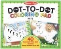 Melissa & Doug Bloc à colorier à numéros point à point animaux de compagnie Melissa & Doug 30261 000772302616