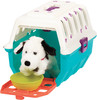 Battat Trousse de vétérinaire avec cage turquoise et chien en peluche (Dalmatian Vet Kit) 062243334526