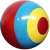 "Fabricas Selectas Ballon rouge/bleu/jaune à bandes 8"" non gonflé (Inflate-a-ball) 754316132053"