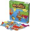 """Geotoys Casse-tête 68 GEO Puzzle carte du monde 26"""" x 12.5"""" (fr) 856503005062"""